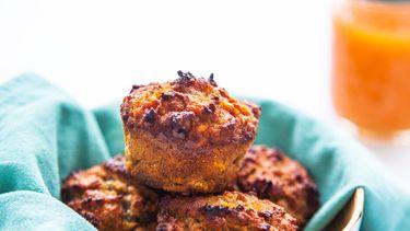 Afbeelding van gezonde zoete aardappelmuffins