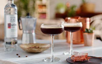 Vodka cocktail met koffie
