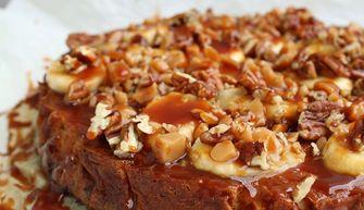 Foto van een banoffee cheesecake (taartrecepten)