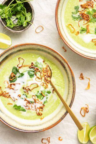 Vegan Thaise broccolisoep recept