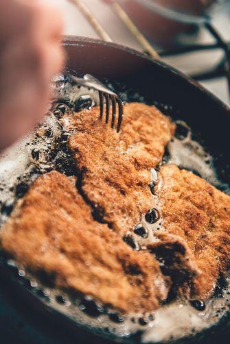 vlees bakken