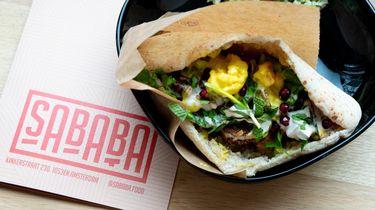 Zeewierfalafel en halloumi frietjes bij Sababa in Amsterdam