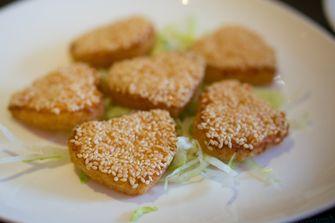 Aziatische garnalentoast / sesame prawn toast