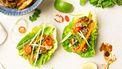 Foto van gegrilde kip met hoisinsaus in slawraps (gezonde recepten)