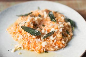 risotto met pompoen en kaassoorten
