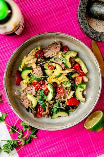 thai beef salade