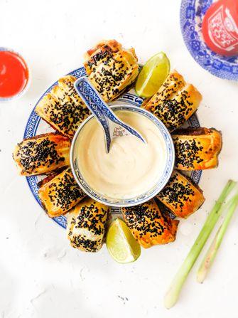Vietnamese saucijzenbroodjes