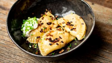 Pierogi met kaas en aardappel