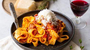 pasta met eendenragu