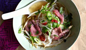 Afbeelding van snelle pho (Vietnamese noedelsoep) voor makkelijke recepten