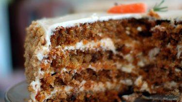 Afbeelding van worteltaart met mascarponecrème