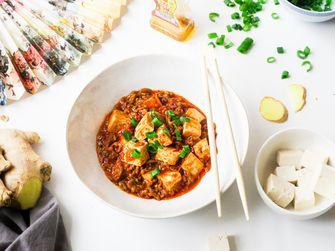 Mapo tofu spicy eten