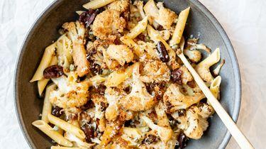 Hartig-zoete pasta met bloemkool