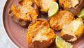 Zoete aardappels met tahiniboter