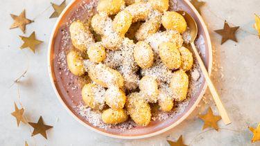 Cacio e pepe aardappeltjes bijgerecht voor kerst