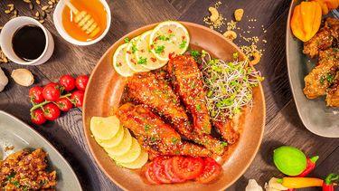 Korean fried chicken van Uncle Lee in Amsterdam