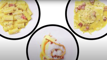 Pasta carbonara op drie manieren