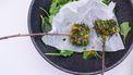 geitenvlees met gerookte aubergine