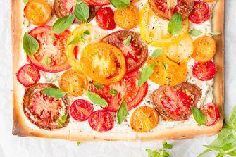 Zomers tomatentaartje met ricotta