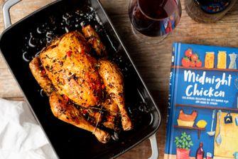 Gebraden kip recept Midnight Chicken