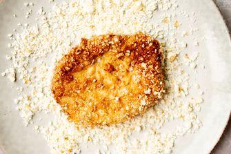 Popcornschnitzels met polenta