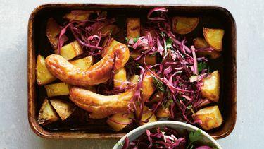 Traybake met geroosterde aardappels