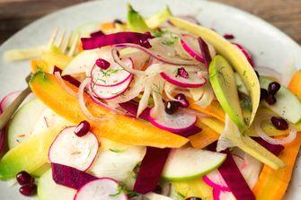 Afbeelding van salade van geschaafde groenten