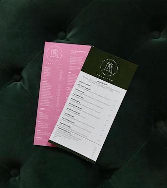 Rose Rouge menukaart