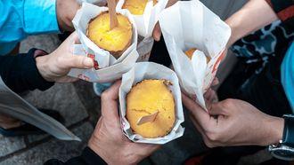 Bevroren zoete aardappels