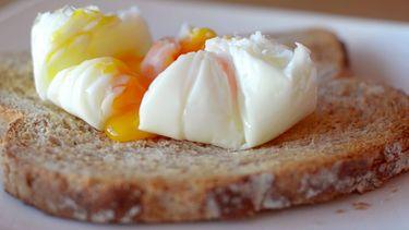 geppocheerd ei op brood