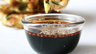 Koreaanse pannenkoekjes met courgette
