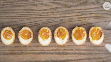 sojasaus-eieren van Momofuku