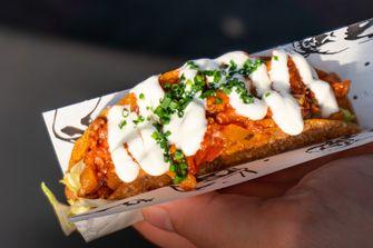 Taco met carnitas van Ron Blaauw