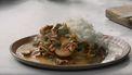 Vegetarische stroganoff Jamie Oliver