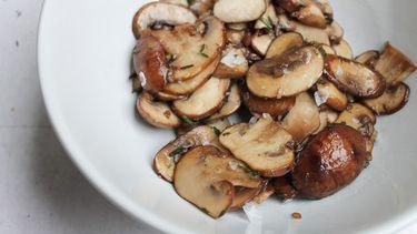 Herfsthapje van champignons