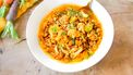 minestrone met bloemkool, wortel en dille
