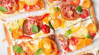 Snel tomatentaartje: eten met warm weer