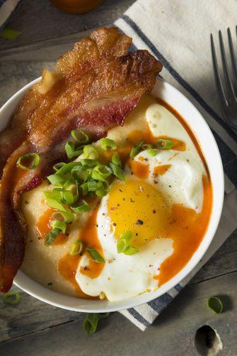 polenta bacon eggs