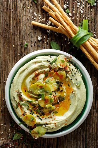 Recept voor zelfgemaakte hummus met tuinbonen