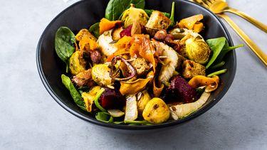 gezonde maaltijdsalade/winterse panzanella