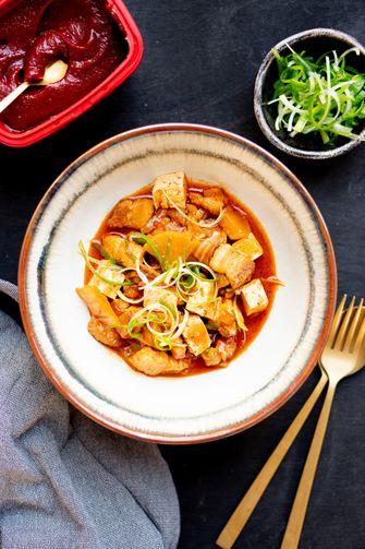 Kimchi jjigae recept