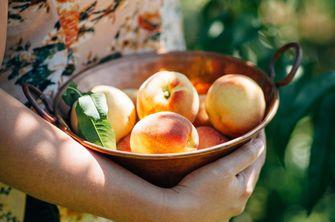Verse perziken voor fruittaart