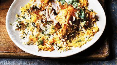 Speciale kip biryani van The Curry Guy