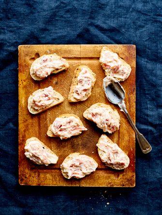 Broodjes met ham en aiolicrème