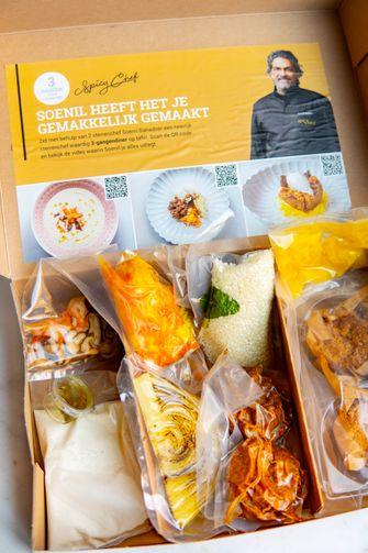 Soenil Bahadoer maaltijdbox Jumbo