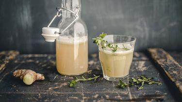 Gember-citroendrankje tegen verkoudheid