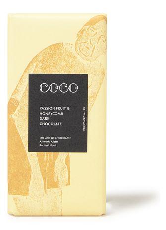 Coco Chocolatier donkere chocolade met passievrucht en honing