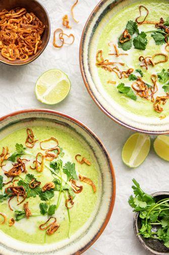 Thaise broccolisoep (vegan)