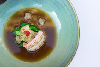 Langoustine in bouillon
