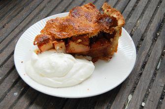 Foto van een klassieke Hollandse appeltaart (taartrecepten)